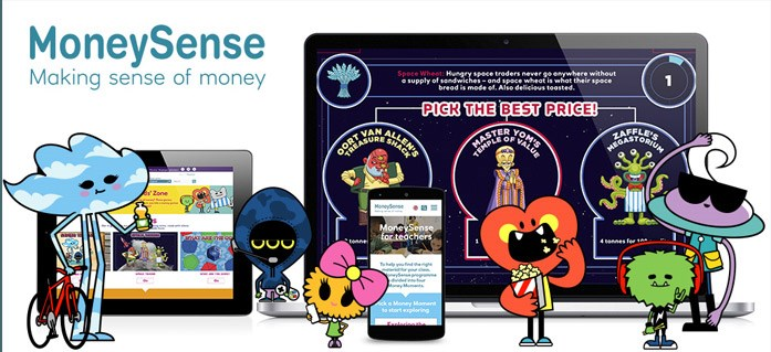 New resource for Young People:  MoneySense image