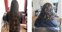 Inspirational By the Bridge Young Person Donates Hair to Charity